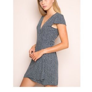 Brandy Melville Robbie Wrap Floral Dress